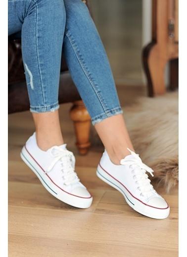 Pembe Potin A3232-20 Kadın Ayakkabı A3232-20 Beyaz